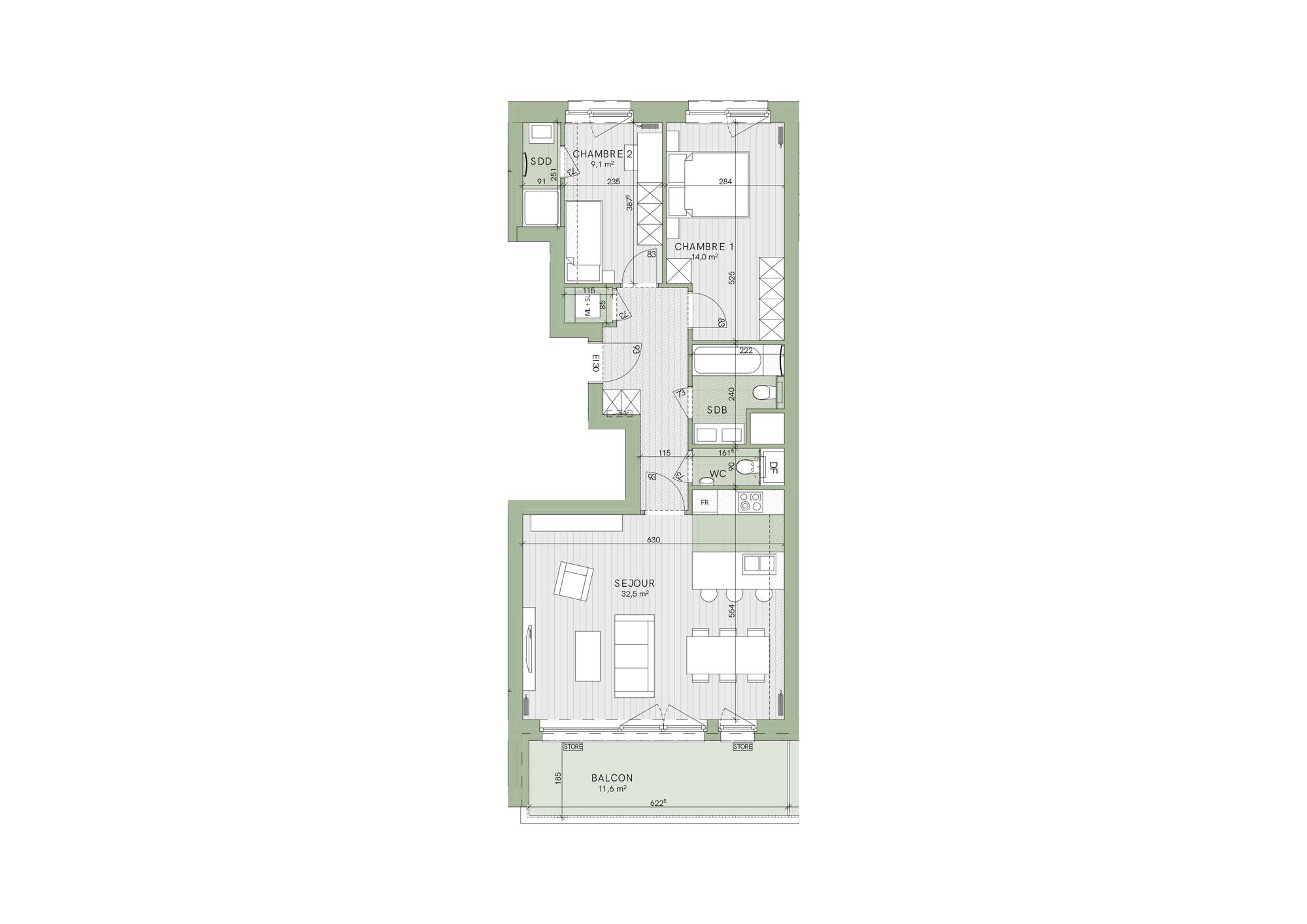 SoStockel - Deux Chambre