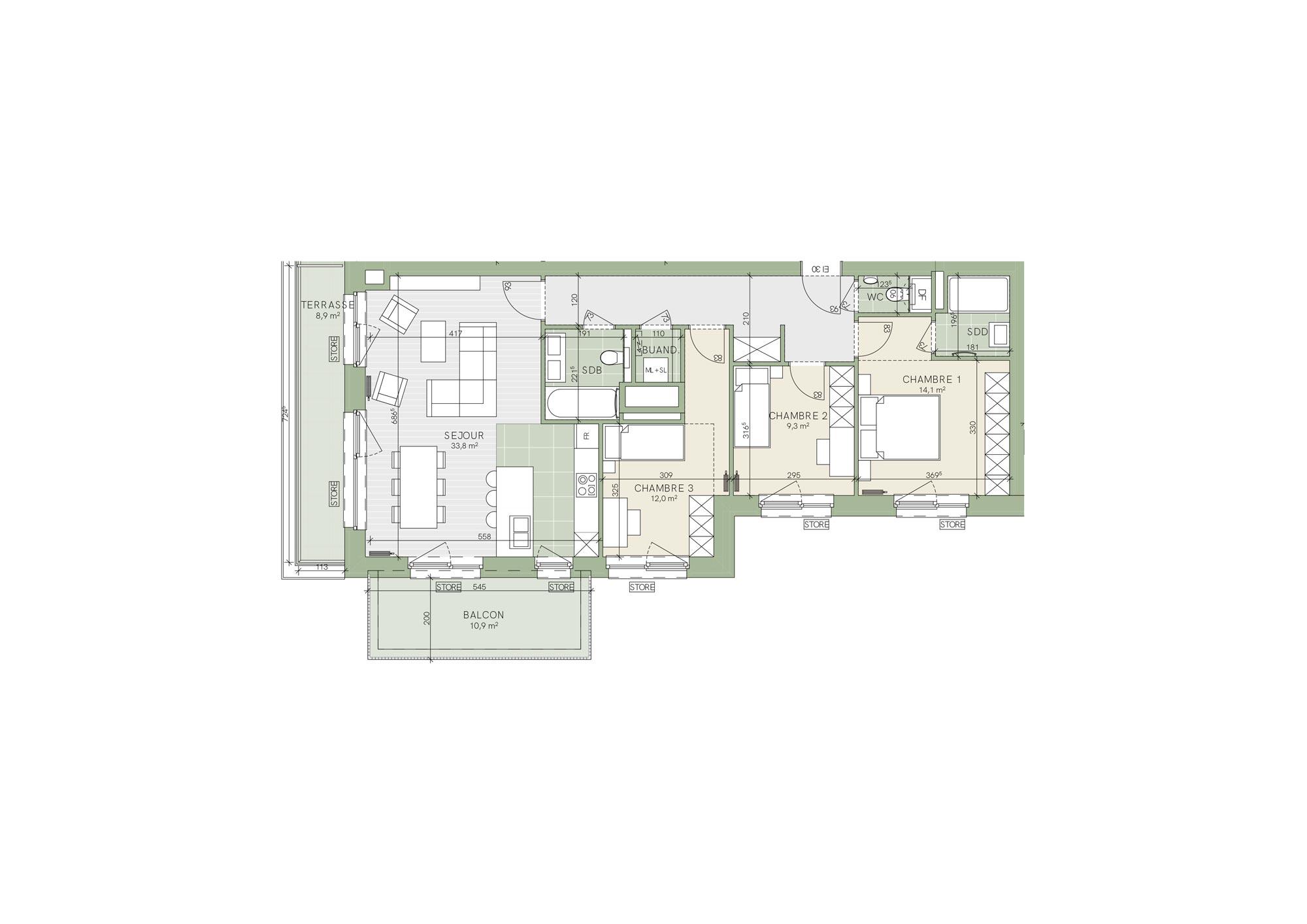 SoStockel - Trois Chambre